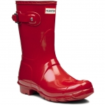 Hunter Original Short Gloss Rubber Wellington Boots