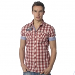 Scotch And Soda Short Sleeved Checked Shirt