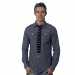 Scotch And Soda Roll Up Shirt With Retro Tie