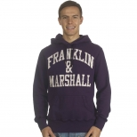 Franklin And Marshall Basic Logo Cracked Hoody