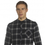 Villain Bruce Roll Sleeve Check Shirt