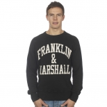 Franklin And Marshall Basic Logo Cracked Sweater
