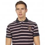 Saint Jude Basic Logo Stripe Polo