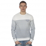 Scotch And Soda Striped Crew Neck Sweat