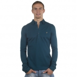 Farah Vintage Long Sleeve Merriweather Polo