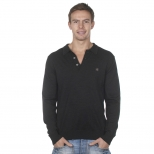 Gabicci Gray Knitted Polo Shirt