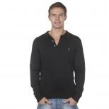 Gabicci Gray Knitted Polo Shirt