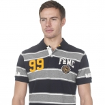 Franklin And Marshall Piquet Stripe Polo Shirt