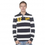 Franklin And Marshall Piquet Stripe Long Polo Shirt