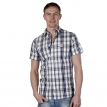 Franklin and Marshall Martins Short Sleeve Shirt