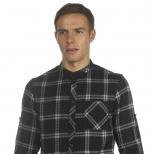 Villain Bruce Roll Sleeve Check Shirt