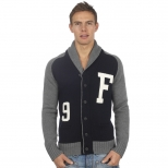Franklin And Marshall Basic Logo Shawl Neck Cardigan
