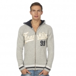 Franklin And Marshall Knitted Zip Hoody