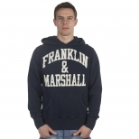 Franklin And Marshall Basic Cracked Logo Hoody