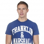 Franklin And Marshall Cracked Logo T Shirt