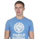 Franklin And Marshall Cracked Mcmic Print T Shirt