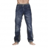 Cipo And Baxx Cuffed Bottom Insert Jeans